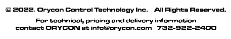 Copyright 2015, Orycon Control Technology, Inc.